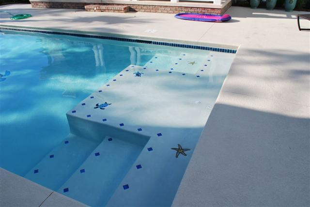 swimming pool step marker ideas